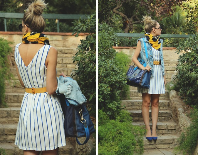 Again, scarves are a great piece during this summer to fall transition.