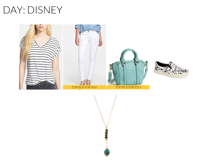 There's nothing that says warm weather like a pair of white denim pants. Pair yours with a simple striped t-shirt and a cross body bag. Since you'll be walking around a lot, you want to keep your look minimalistic.