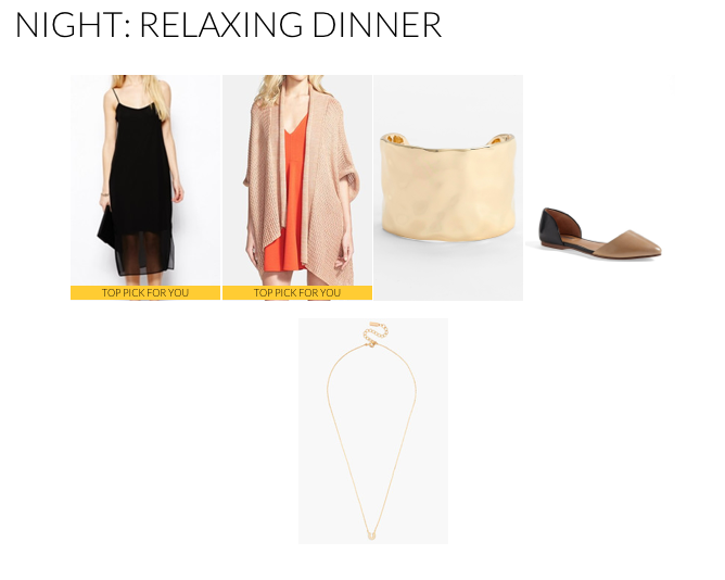 For a more relaxed evening look pair your favorite LDB with a loose fitted cardigan. This look is effortlessly chic.
