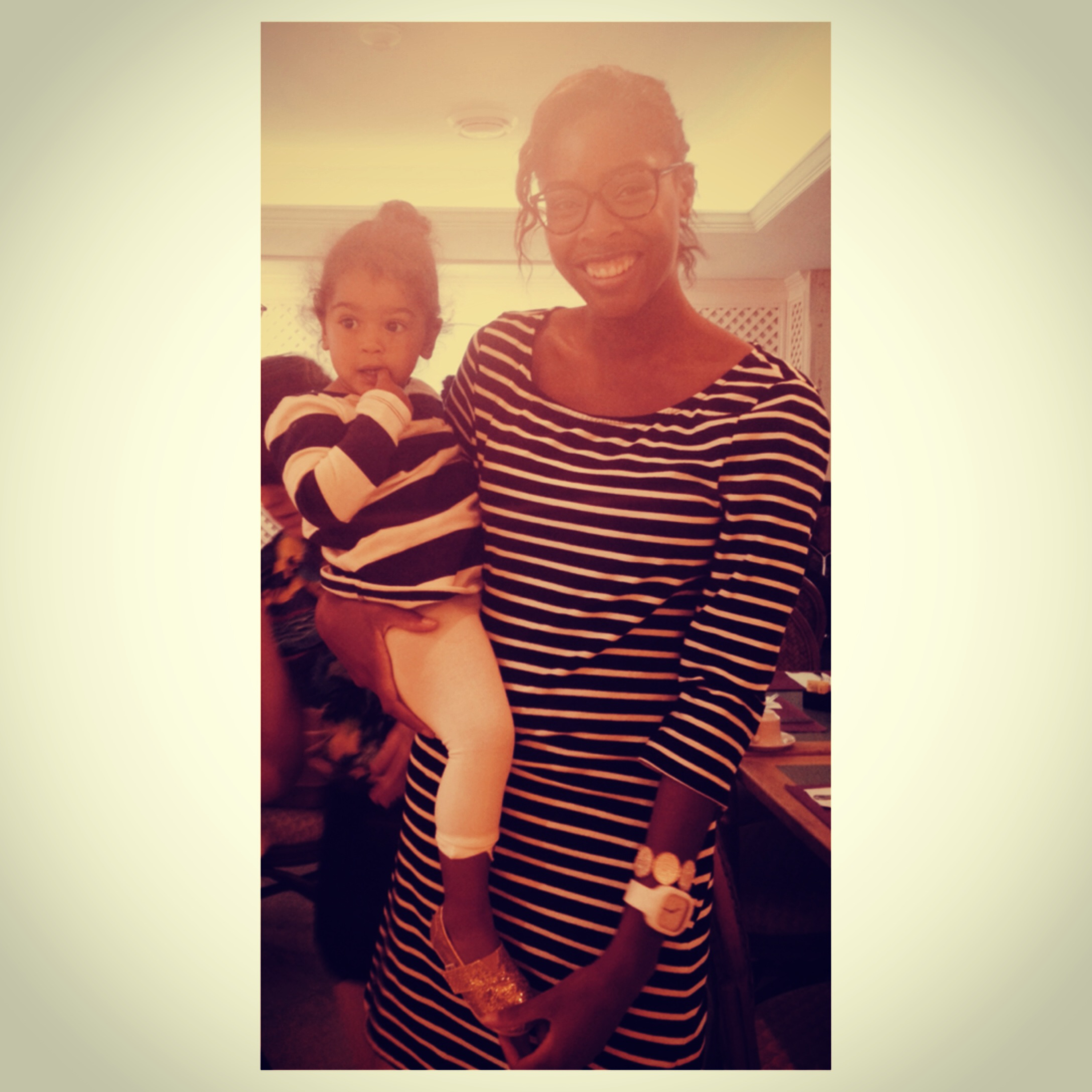 My baby cousin and I