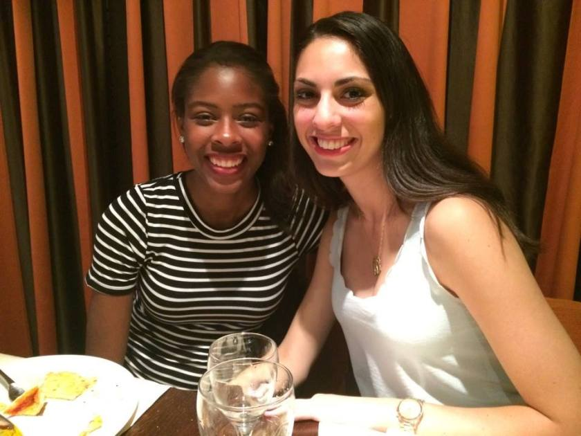 Anna and I at dinner