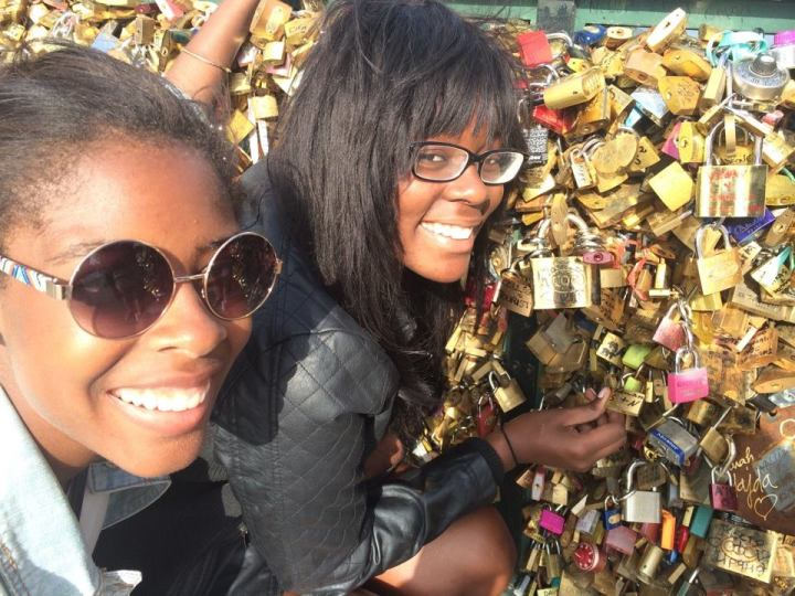 Surya and I found a lock with our initials!