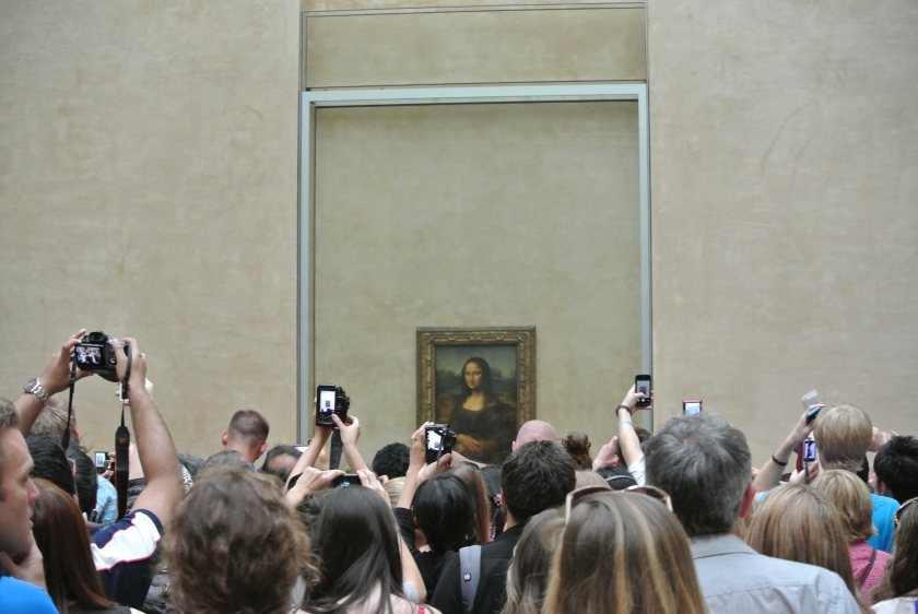 The Mona Lisa was a popular site to see.