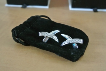 """Lynne """"Pretty"""" Crisscross Earrings (A Bonus Gift! You usually get two pieces of jewelry a month, not three) $99.00"""