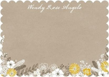 For Her: Personalized Stationary $10/set Tinyprints.com