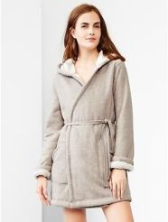 For Her: Sherpa-lined hooded robe $70 Gap.com