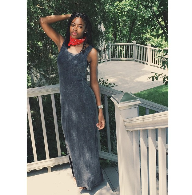 Bandana found in my closet somewhere lol Maxi dress from Nordstrom