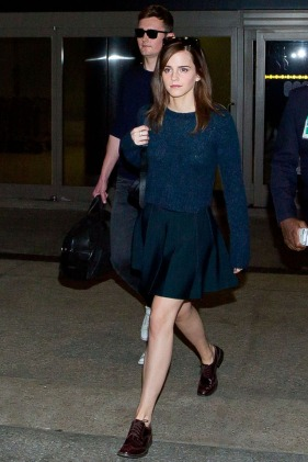 LOS ANGELES, CA - MARCH 18: Emma Watson is seen at LAX airport on March 18, 2014 in Los Angeles, California. (Photo by GVK/Bauer-Griffin/GC Images)