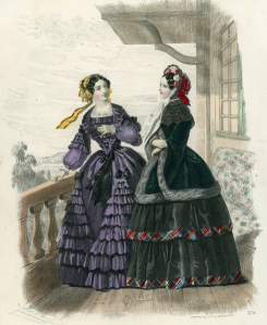 p. 132 - Jules David, Le Conseiller des Dames et des Demoiselles, hand-coloured steel engraving, 1852