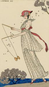 p. 19 - George Barbier, Le Journal des Dames et des Modes, hand-coloured pochoir, 1913