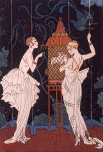 p. 200 - George Barbier, La Guirlande des Mois, hand-coloured pochoir, 1916
