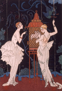 p. 200 - George Barbier, La Guirlande des Mois, hand-coloured pochoir, 1916
