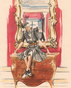 p. 294 - Die Mode, coloured lithograph, 1943