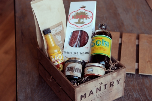 $75 Monthly curated food subscription box for men. http://mantry.com