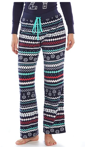 $16 PJ Bottoms http://www.kohls.com/product/prd-2270445/sonoma-life-style-pajamas-starry-night-microfleece-pajama-pants-womens.jsp?color=Fairisle%20Navy