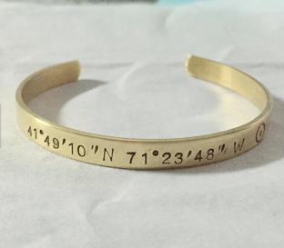 $19 Latitude Longitude Bracelet https://www.etsy.com/listing/212991570/latitude-longitude-bracelet-latitude?ref=market
