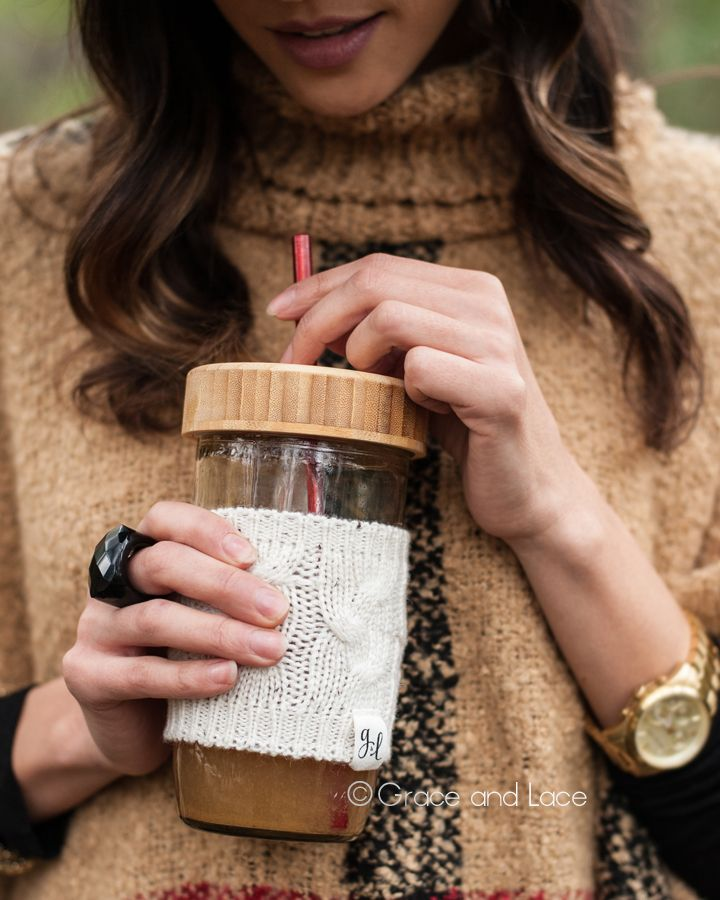 grace and lace cozy cup $15