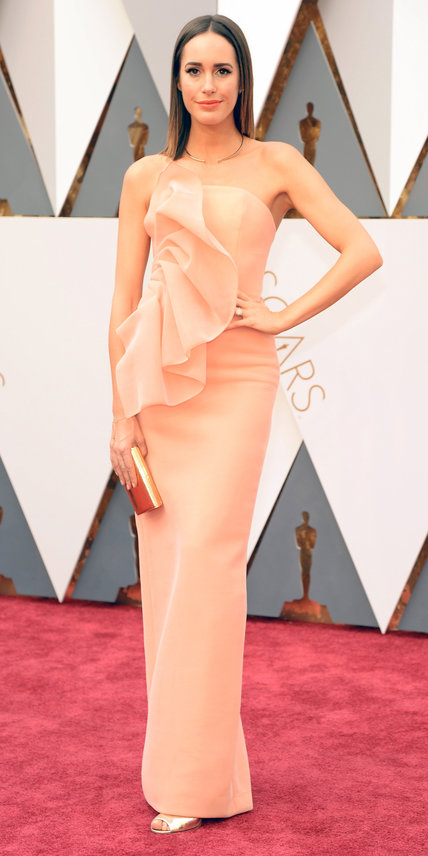 HOLLYWOOD, CA - FEBRUARY 28:  TV personality Louise Roe attends the 88th Annual Academy Awards at Hollywood & Highland Center on February 28, 2016 in Hollywood, California.  (Photo by Kevin Mazur/WireImage)