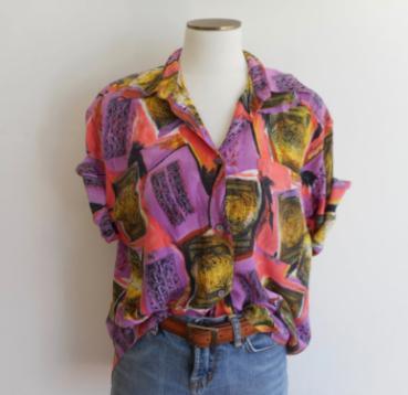 Etsy $25 https://www.etsy.com/listing/461041864/vintage-90s-allison-smith-silk-blouse?ref=market