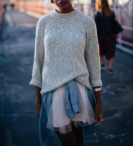 I like the tulle done in a grown up, cool way. Ha! (2016)